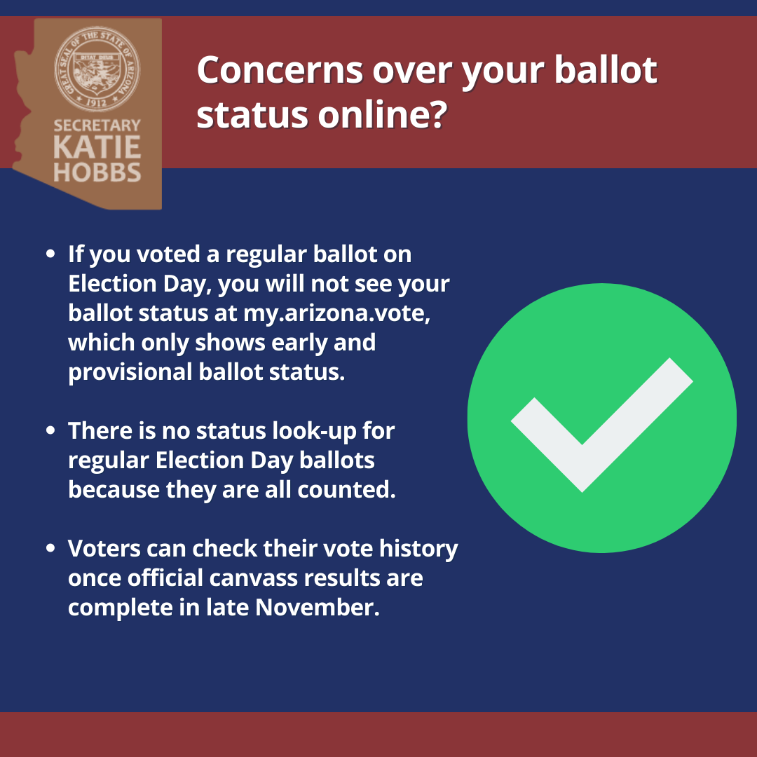 Concerns about your ballot status online